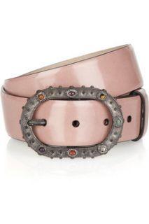Valentino Dusty Pink Patent Leather Belt 95 38
