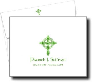 Thank You for Your Sympathy Note Cards Irish Celtic Cross