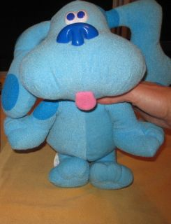 Tyco Sing Along Blue Clues Talking Plush 1997 12 inches, Excellent
