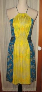 Issa London 100 Silk Jersey Print Halter Dress Size 4