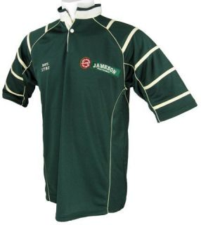 Jameson Irish Whiskey Breathable Rugby Shirt Dark Green