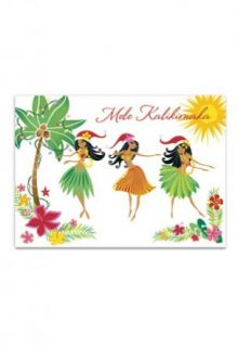 Hawaiian Made in Hawaii Island Hula Honeys Mele Boxed Christmas Cards