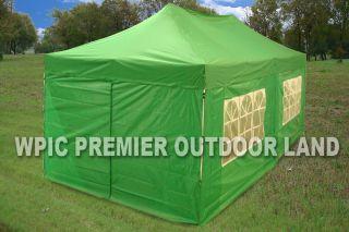 10x20 Pop Up 6 Wall Canopy Party Tent Gazebo Set EZ Green