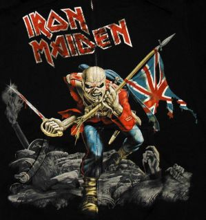 Iron Maiden The Trooper Album Cover Zip Up Adult Hoodie Hooded