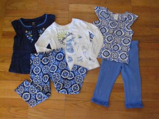 Gymboree 4T Greek Isle Style Spring Summer Shirts Pants Set Outfit Lot