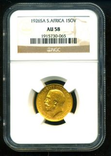 1926 SA South Africa George V Gold Coin Sovereign NGC