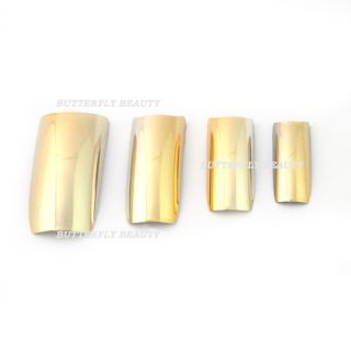 50x Nail Art Acrylic Nails Plating Metal False Tips K67