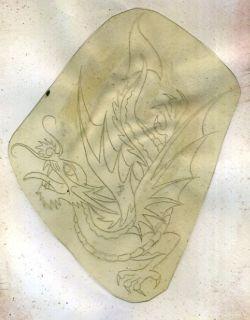 SAILOR JERRY aka Norman K Collins ORIGINAL TATTOO ACETATE stencil