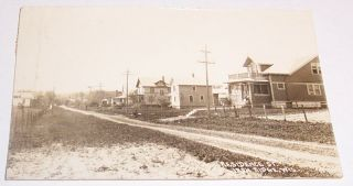 Residence Street Iron Ridge Wisconsin Wi Used 1926 Photo Postcard