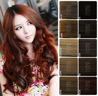 Clip in Wavy Curly Hair Extensions Hairpiece Long New 10 Colors