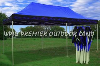 10x20 Pop Up Canopy Party Tent Gazebo EZ Blue Flame