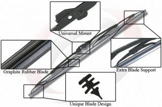 22 19 inch Front Windshield Wiper Blades Streak Free