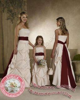 Long Sash Bridesmaid Dress Flower Girl Dress Party Dress Ball Gown