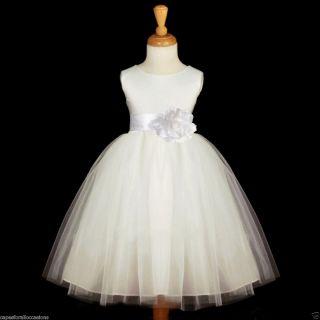 Ivory Wedding Bridal Pageant Kids Flower Girl Dress 12M 18M 2 3 4 5 5T
