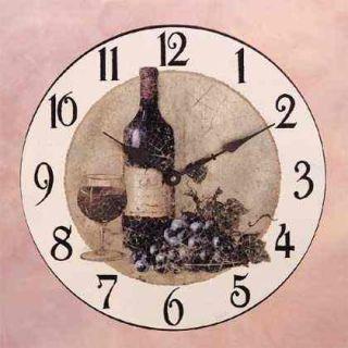 Wine Themed Kitchen Wall Clocks