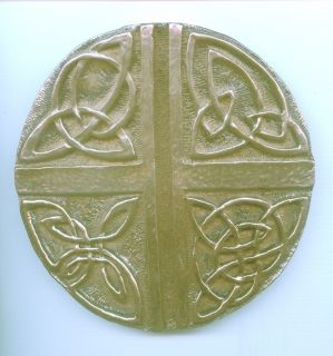 Celtic Love Cross Wall Plaque from The Wild GOOSE Studio Made in