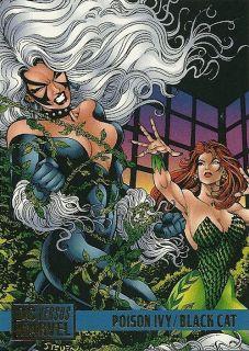 Poison Ivy Black Cat 88 1995 DC vs Marvel Card Butler