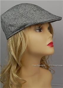 Ivy Flat Golf Driving Beret Newsboy Cap Hat Black