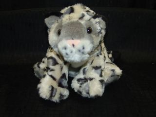 Lifelike Plush Cheetah Snow Leopard Cub Stuffed Animal