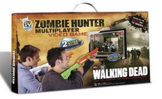 2012 The Walking Dead 2 Guns Zombie Hunter TV Video Game Plug Play AMC