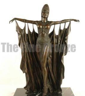Signed D.H.Chiparus, Bronze Statue Art Deco Dancer Bronze Sculpture