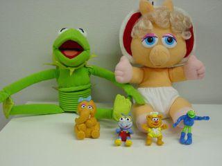Sesame Street Missy Piggy Plush Kermit Slinky 4 Small Figures