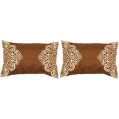 surya chocolate and cream 20 wide set of 2 lumbar pillows