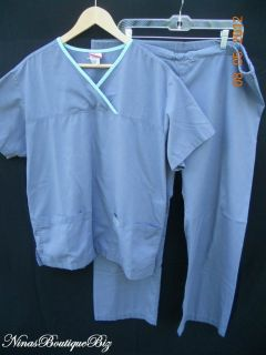 Izzy Scrub Set by Peaches Large Gray Medical Uniform