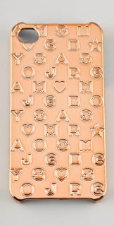 Marc by Marc Jacobs Metallic Stardust Logo iPhone Case