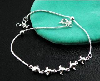 Angel Eggs 925 Sterling Silver Ankle Bracelet Chain 10