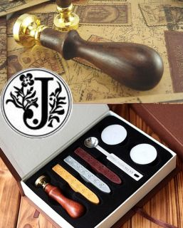 Initial Sealing Wax Seal Stamp Luxury Gift Package Letter J