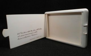 1951 ITALIAN SOMALIA AFRICA FAUX IVORY CIGARETTE CARD CASE HAND CARVED
