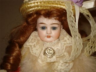 MYSTIQUE ANTIQUE GERMAN BISQUE/CLOTH ALMA DOLL! presented by j.h.haunt