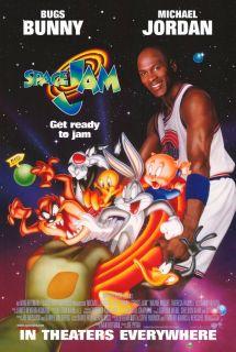 Space Jam Movie Promo Poster F 1996 Michael Jordan Bill Murray Wayne