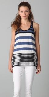 Vince Engineered Stripe Knit Tank