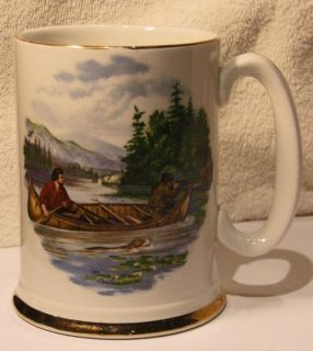 Beer Stein Mug Currier & Ives Hunting for Deer Ellgreave Ironstone