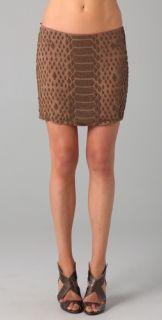 Haute Hippie Snake Beaded Miniskirt