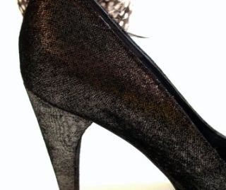 Renee Women Carmina Open Toe Pump Dark Nickel Metal US Size 6 5 M