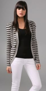 Juicy Couture Striped Military Cardigan