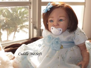 Cuddle Me Soft   Beautiful Reborn Baby Girl  Rooted Human Hair   Sold