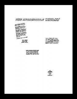 Jack Kirby Tales to Astonish 70 RARE Production Art PG 1