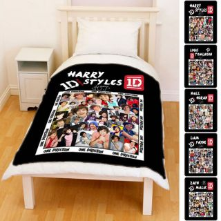 1D Harry Styles One Direction All Members Fleece Throw Blanket Collage
