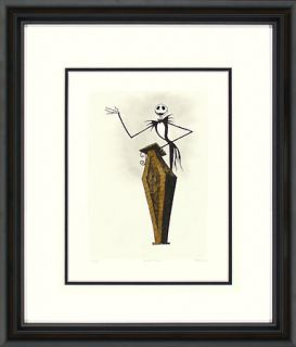 Nightmare Before Christmas Jack Skellington with Coffin Podium