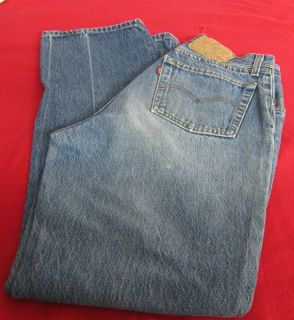 Pre Owned Mens Levis Straight Jeans Size 31x29 MMS 591