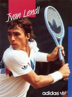 Vintage Adidas Ivan Lendl Longsleeve Shirt Sweatshirt Shirt New Tags
