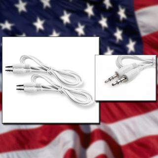 5FT 3 5MM M M JACK AUX STEREO CABLE CORD IPAD IPHONE 4 IPOD  CAR
