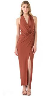 Haute Hippie Asymmetrical Draped Gown