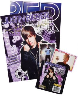 Justin Bieber Album Book Sticker Pack Birthday Party Favor Gift Game