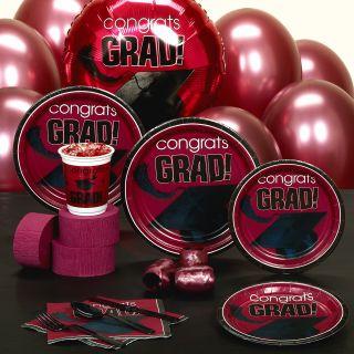 Congrats Grad Graduation Assorted Colors Party Sets New
