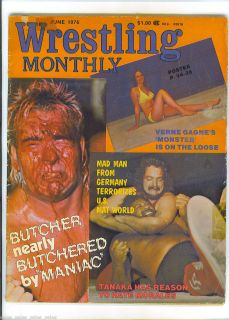 BUTCHER Susan SEXTON Ann CASEY Pedro MORALES 1976 Wrestling Monthly